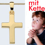 Kinder Kommunion Kreuz Gold 333