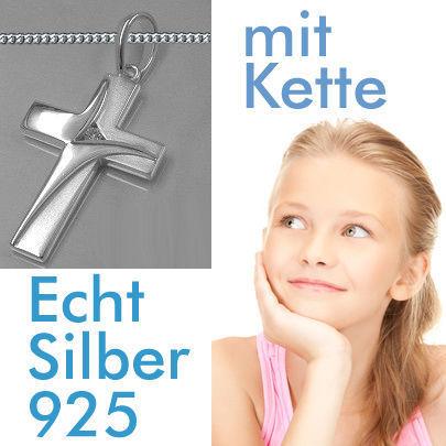 Kinder Kommunion † Konfirmation Firmung HERZ ANHÄNGER mit KETTE SILBER 925 NEU