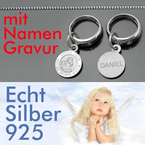 Namen Gravur Schutz Engel Silber 925 Gottes Segen auf all deinen Wegen mit kette